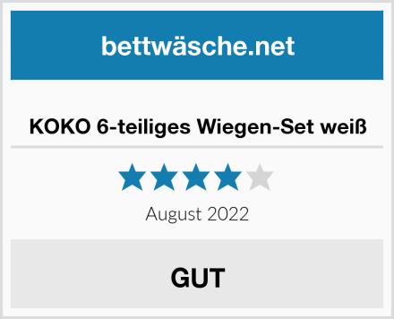 KOKO 6-teiliges Wiegen-Set weiß Test