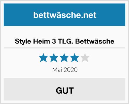 No Name Style Heim 3 TLG. Bettwäsche Test