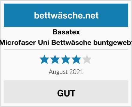 Basatex Microfaser Uni Bettwäsche buntgewebt Test