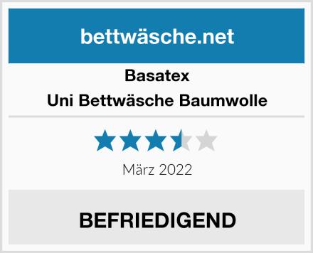 Basatex Uni Bettwäsche Baumwolle Test