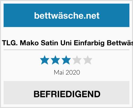 etérea 2 TLG. Mako Satin Uni Einfarbig Bettwäsche-Set Test
