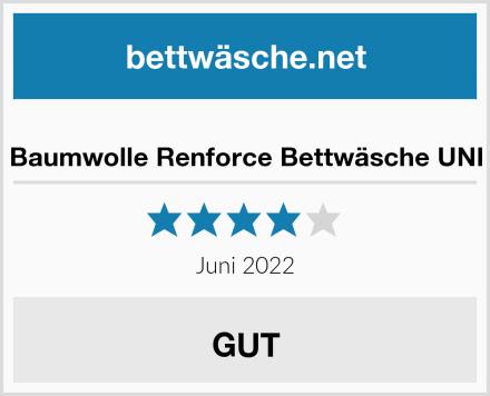 Baumwolle Renforce Bettwäsche UNI Test