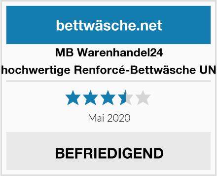MB Warenhandel24 4-Teilige hochwertige Renforcé-Bettwäsche UNI-WENDE Test