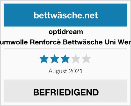 optidream Baumwolle Renforcè Bettwäsche Uni Wende Test