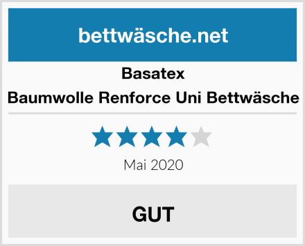Basatex Baumwolle Renforce Uni Bettwäsche Test