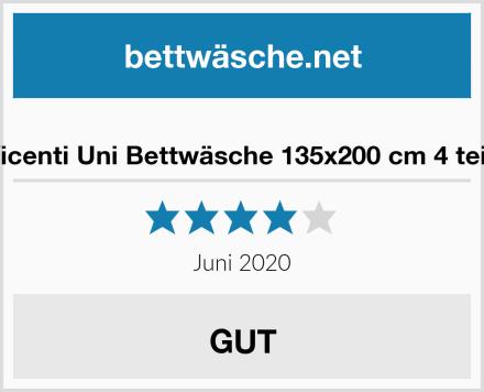 Leonado-Vicenti Uni Bettwäsche 135x200 cm 4 teilig / 2 teilig Test