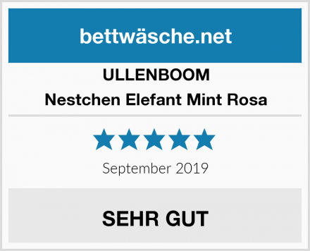ULLENBOOM Nestchen Elefant Mint Rosa Test