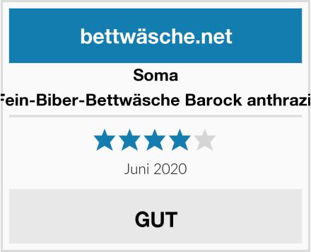 Soma Fein-Biber-Bettwäsche Barock anthrazit Test