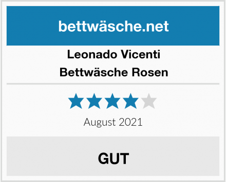 Leonado Vicenti Bettwäsche Rosen Test