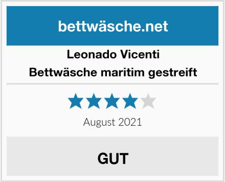 Leonado Vicenti Bettwäsche maritim gestreift Test