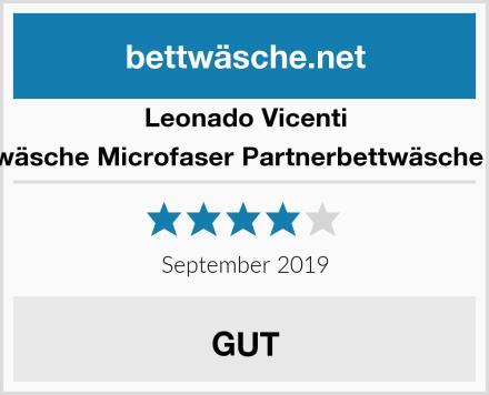 Leonado Vicenti Bettwäsche Microfaser Partnerbettwäsche Love Test