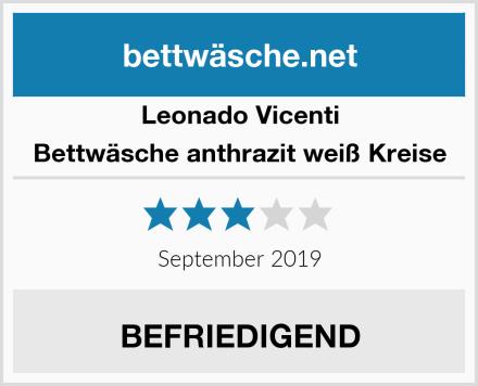 Leonado Vicenti Bettwäsche anthrazit weiß Kreise Test