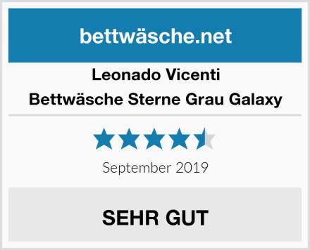 Leonado Vicenti Bettwäsche Sterne Grau Galaxy Test