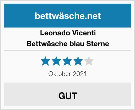 Leonado Vicenti Bettwäsche blau Sterne Test