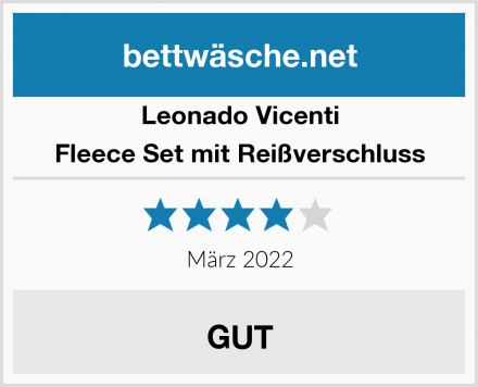 Leonado Vicenti Fleece Set mit Reißverschluss Test