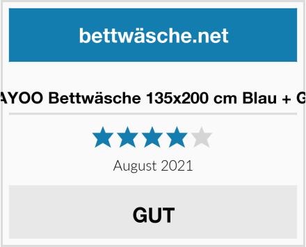 KEAYOO Bettwäsche 135x200 cm Blau + Grau Test