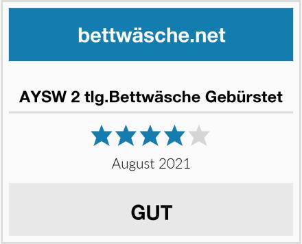 AYSW 2 tlg.Bettwäsche Gebürstet Test