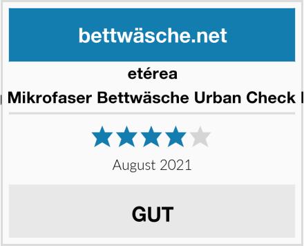etérea 4 teilig Mikrofaser Bettwäsche Urban Check Kariert Test