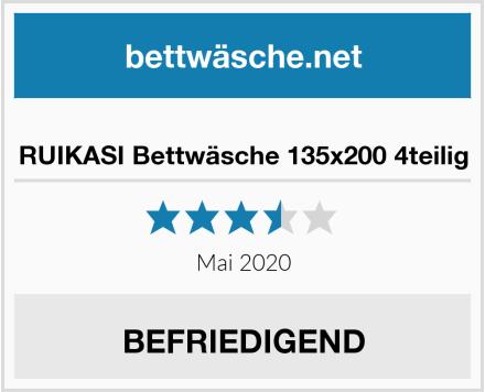 RUIKASI Bettwäsche 135x200 4teilig Test