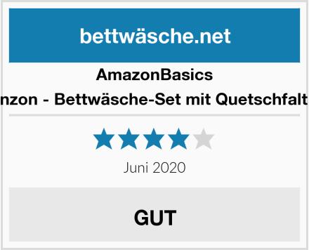 AmazonBasics Pinzon - Bettwäsche-Set mit Quetschfalten Test