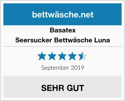 Basatex Seersucker Bettwäsche Luna Test