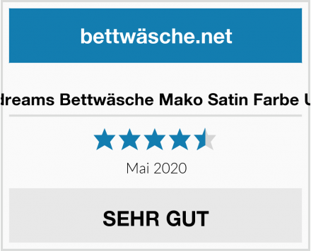 Bettendreams Bettwäsche Mako Satin Farbe Uni Gelb Test