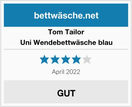 Tom Tailor Uni Wendebettwäsche blau Test