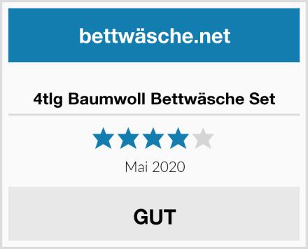 4tlg Baumwoll Bettwäsche Set Test