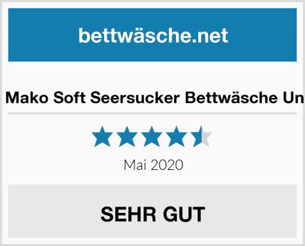 Janine Mako Soft Seersucker Bettwäsche Uni Piano Test