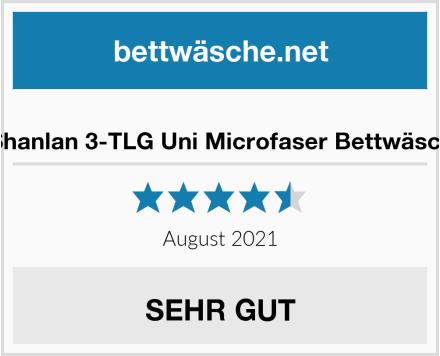 AShanlan 3-TLG Uni Microfaser Bettwäsche Test