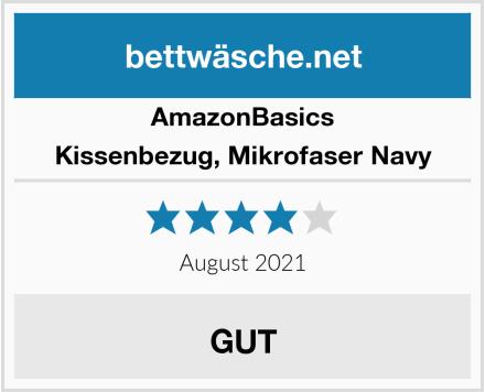 AmazonBasics Kissenbezug, Mikrofaser Navy Test