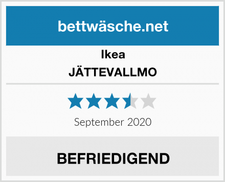 Ikea JÄTTEVALLMO Test