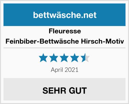 Fleuresse Feinbiber-Bettwäsche Hirsch-Motiv Test