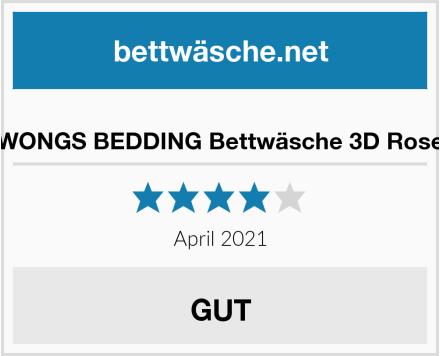 WONGS BEDDING Bettwäsche 3D Rose Test