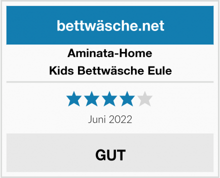 Aminata-Home Kids Bettwäsche Eule Test