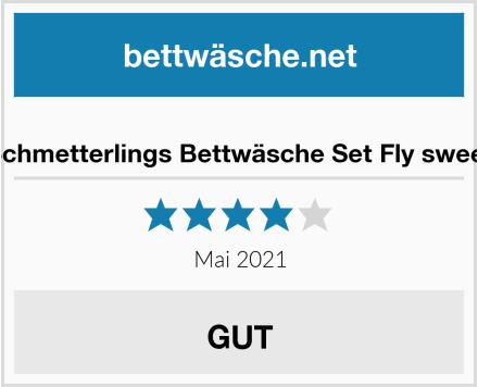 Termana Schmetterlings Bettwäsche Set Fly sweet Butterfly Test