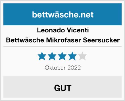 Leonado Vicenti Bettwäsche Mikrofaser Seersucker Test