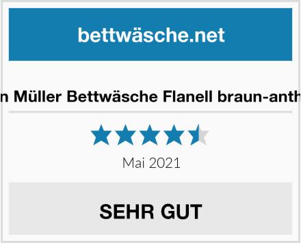 Erwin Müller Bettwäsche Flanell braun-anthrazit Test