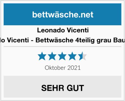Leonado Vicenti - Bettwäsche 4teilig grau Baumwolle Test