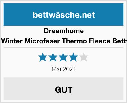 Dreamhome Warme Winter Microfaser Thermo Fleece Bettwäsche Test
