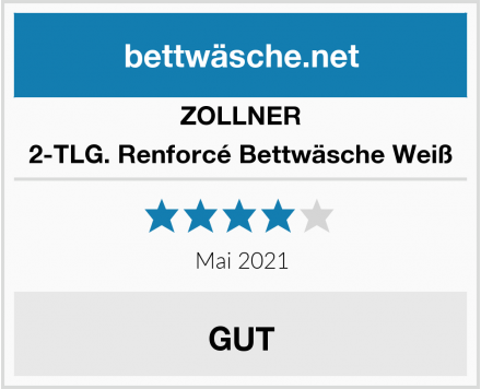 ZOLLNER 2-TLG. Renforcé Bettwäsche Weiß Test