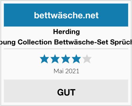 Herding Young Collection Bettwäsche-Set Sprüche Test