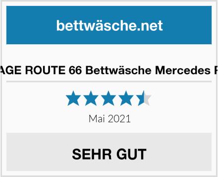 BERONAGE ROUTE 66 Bettwäsche Mercedes Rot Grau Test