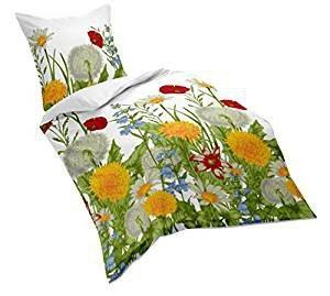 Bettwäsche mit Blumen