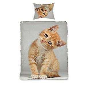 Bettwäsche mit Katzen