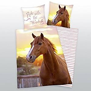Bettwäsche mit Pferden