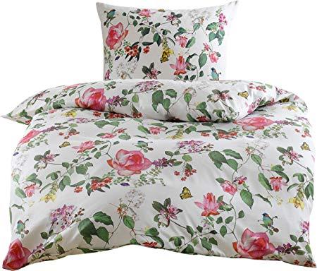 Bettwaesche-mit-Stil Bettwäsche mit Vögeln und Schmetterlingen