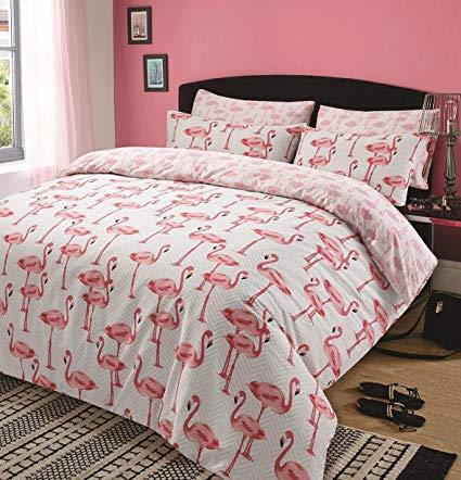 Dreamscene Steppdecken-Bezug-Set Flamingo