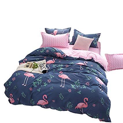 ED-Lumos 4 teilig Bettgarnitur Flamingo