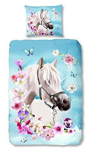 Good Morning 4924-P Bettwäsche weißes Pferd